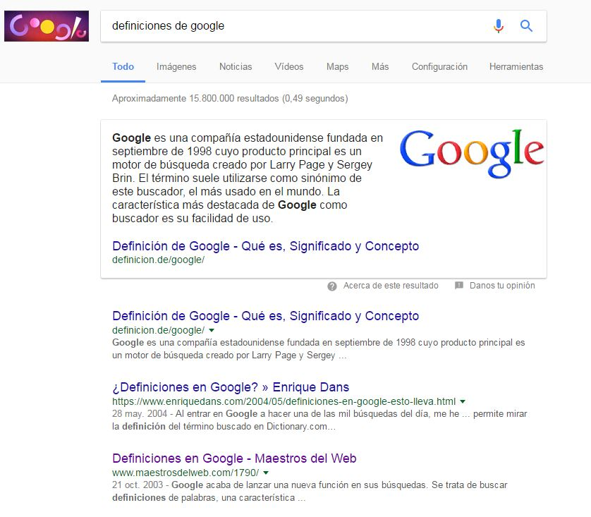 Definiciones de Google, blog mutante digital